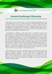 writing a general cardiology fellowship personal statement sample