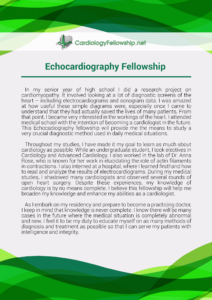 echocardiography fellowship personal statement sample
